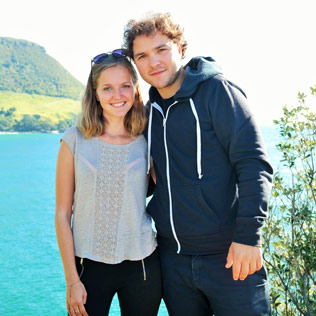 Julie and Quentin from VeryNZ Trip in New Zealand.